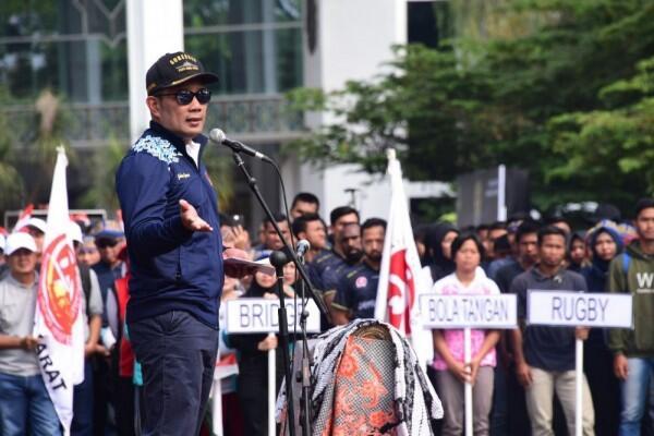 Ridwan Kamil Sampaikan Empat Pesan kepada Atlet Jabar untuk PON 2020