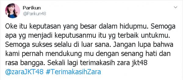 Zara Lulus dari JKT48, Ini 10 Jeritan Hati Para Netizen yang Sedih!