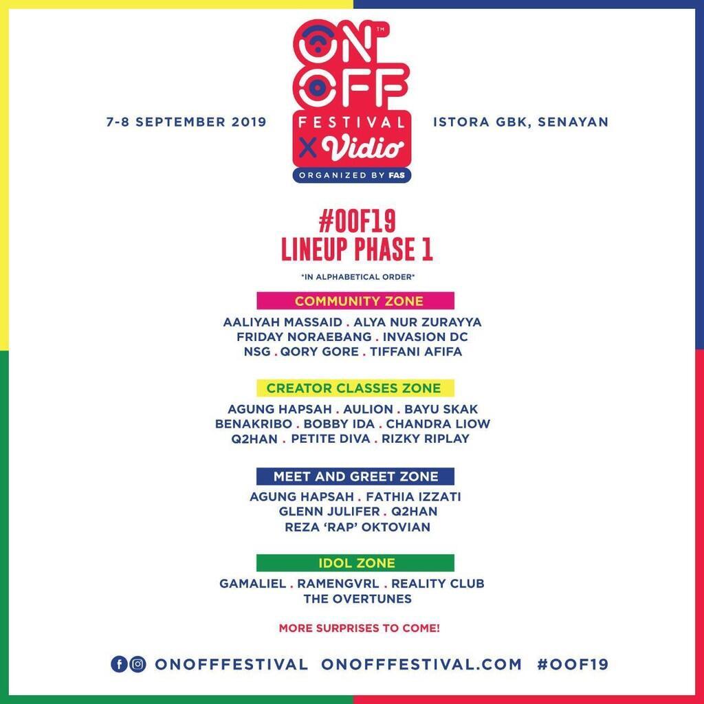 ON OFF Festival 2019 Bertaburan Kreator Lokal dan Internasional, Yuk Ramaikan!