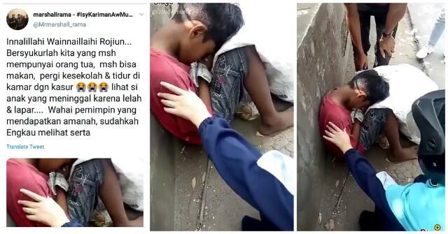 Hoaks! Video Bocah Pemulung Meninggal Diduga Akibat Kelaparan
