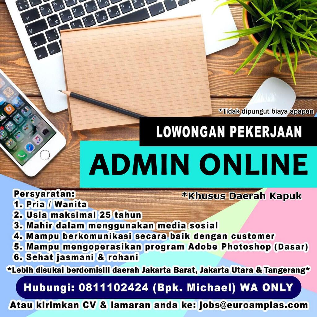 Loker ADMIN ONLINE - Distributor & Toko Online Bahan Bangunan di PIK Kapuk