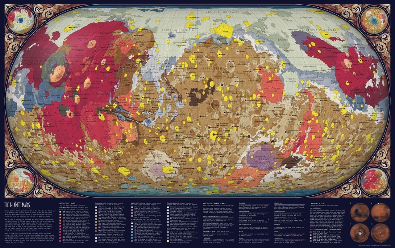 Wih Keren Banget! Peta Mars Yang Baru Selesai Dibuat 2019