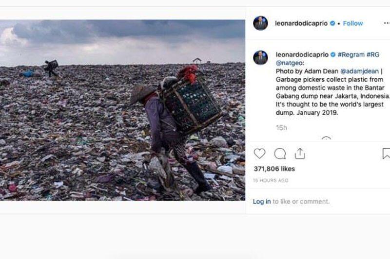 Leonardo DiCaprio: TPST Bantar Gebang Tempat Sampah Terbesar Dunia