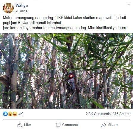 Motor Nyangkut di Pohon Bambu, Warganet: Katanya Bonceng Makhluk Halus