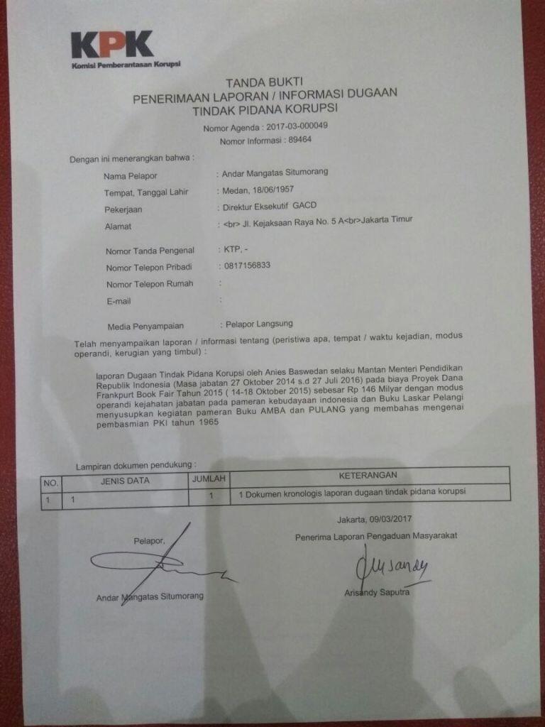KPK Masuk Angin?, Andar: Korupsi Anies Baswedan, Kapan Disidangkan?