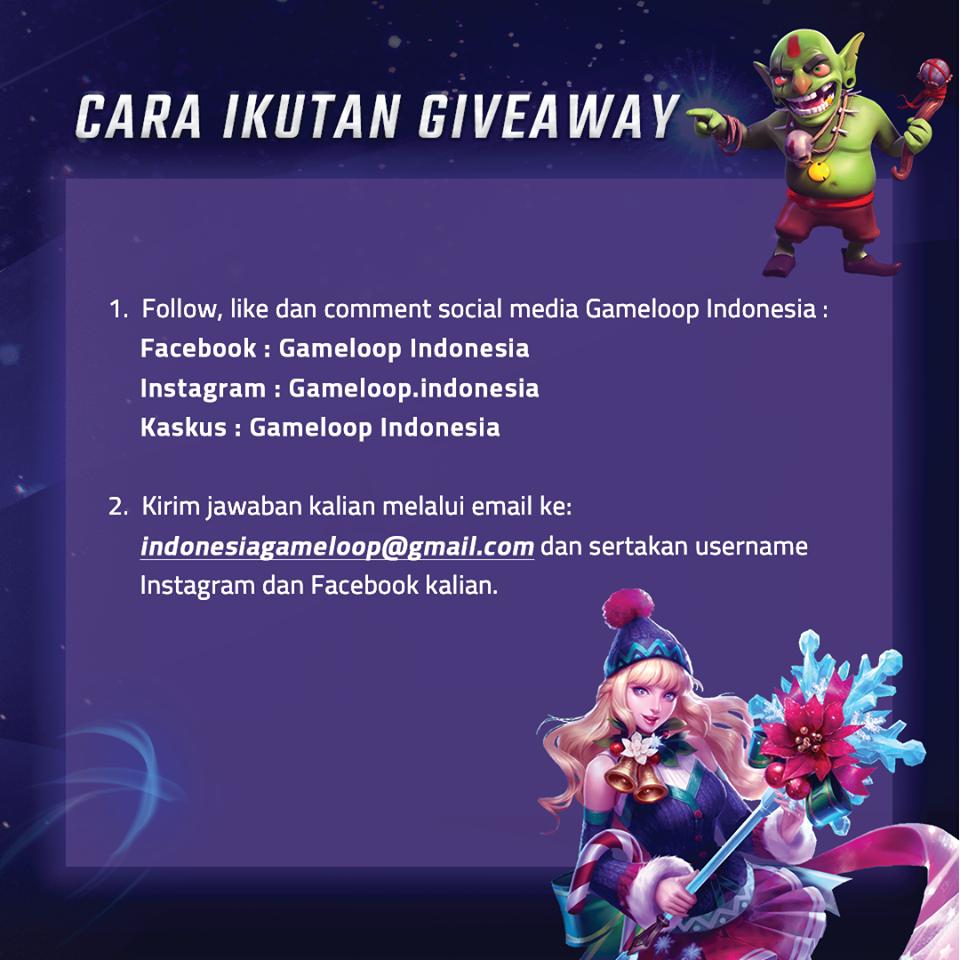 PERSYARATAN GIVE AWAY GAMELOOP INDONESIA