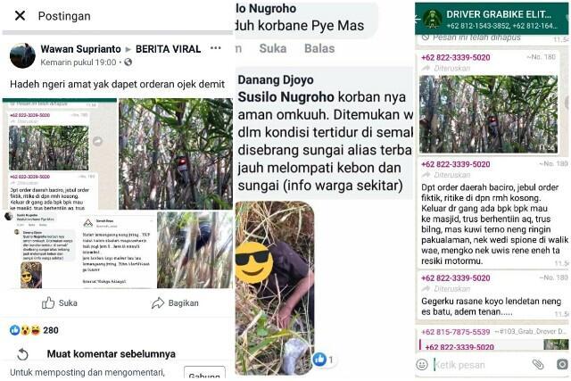 Motor Tersangkut di Pohon Bambu, Driver Ojol Diduga Dapat Orderan Mistis