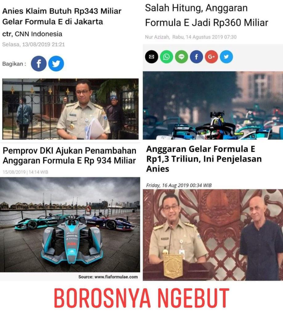Anies: Formula E di Jakarta, Kampanye Kendaraan Ramah Lingkungan