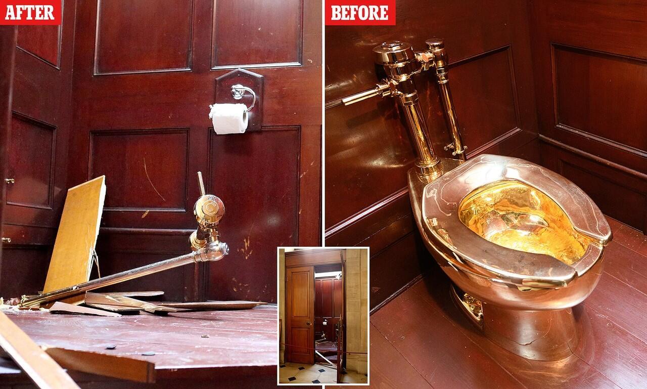 Akibat Petugas Lalai, 'TOILET' Mewah Dari Emas Ini Hilang Digasak Pencuri