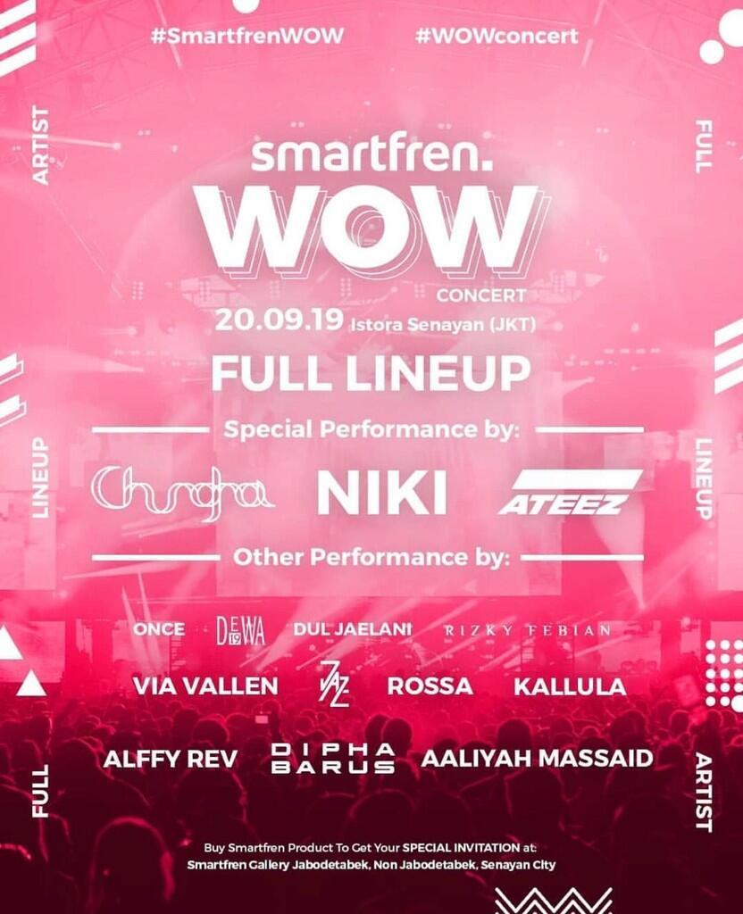 Dari NIKI hingga ROSSA ikut meramaikan Smartfren WOW Concert