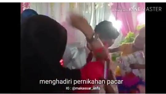 Viral Video Wanita Mengamuk Memukuli Pengantin Laki-laki, Siapa Sebenarnya Dia?
