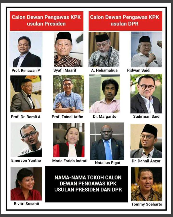 Profil Calon Dewan Pengawas KPK Pilihan Presiden yang Masih Simpang Siur