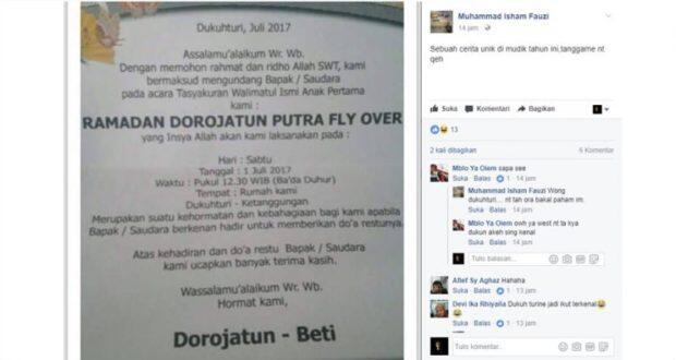 Unik Aneh dan Nyleneh Lihat Tulisan Nama di Undangan ini, Ada yang Ekstrem dan Porno!