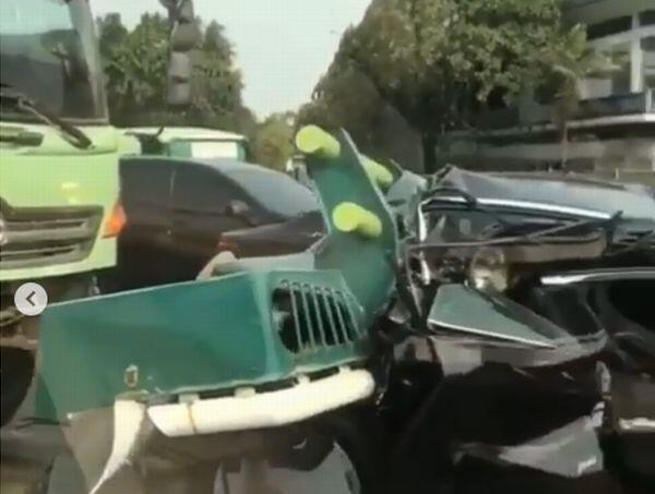 Kecelakaan Beruntun Terjadi di Tol Tangerang