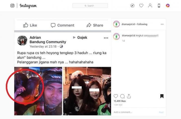 """2 Gadis """"CANTIK"""" Minta Bonceng Tiga, FOTO Postingan Driver Ojol Ini VIRAL!"""