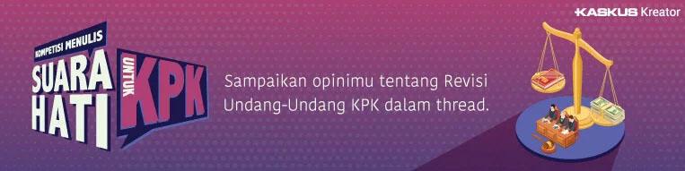 Revisi UU KPK, Koruptor Bahagia?