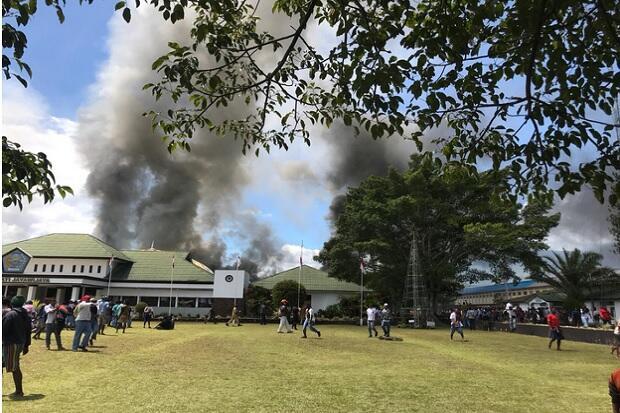 Wamena Papua Rusuh, Massa Bakar Kantor Bupati dan Perkantoran Lainnya