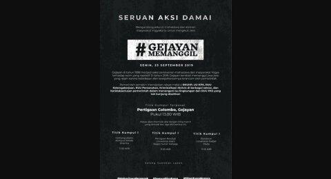 Mahasiswa Jogja Suarakan #GejayanMemanggil, Chat WA Diduga Dosen UMY Viral