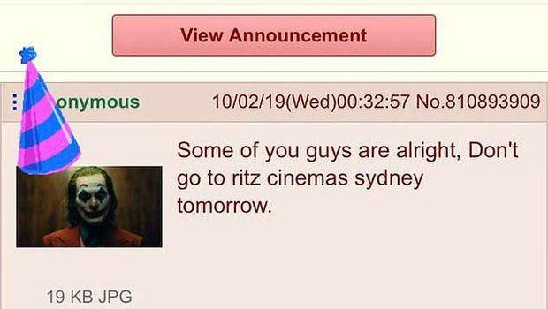 Penembakan Massal Ancam Pemutaran 'Joker' di Bioskop Sydney