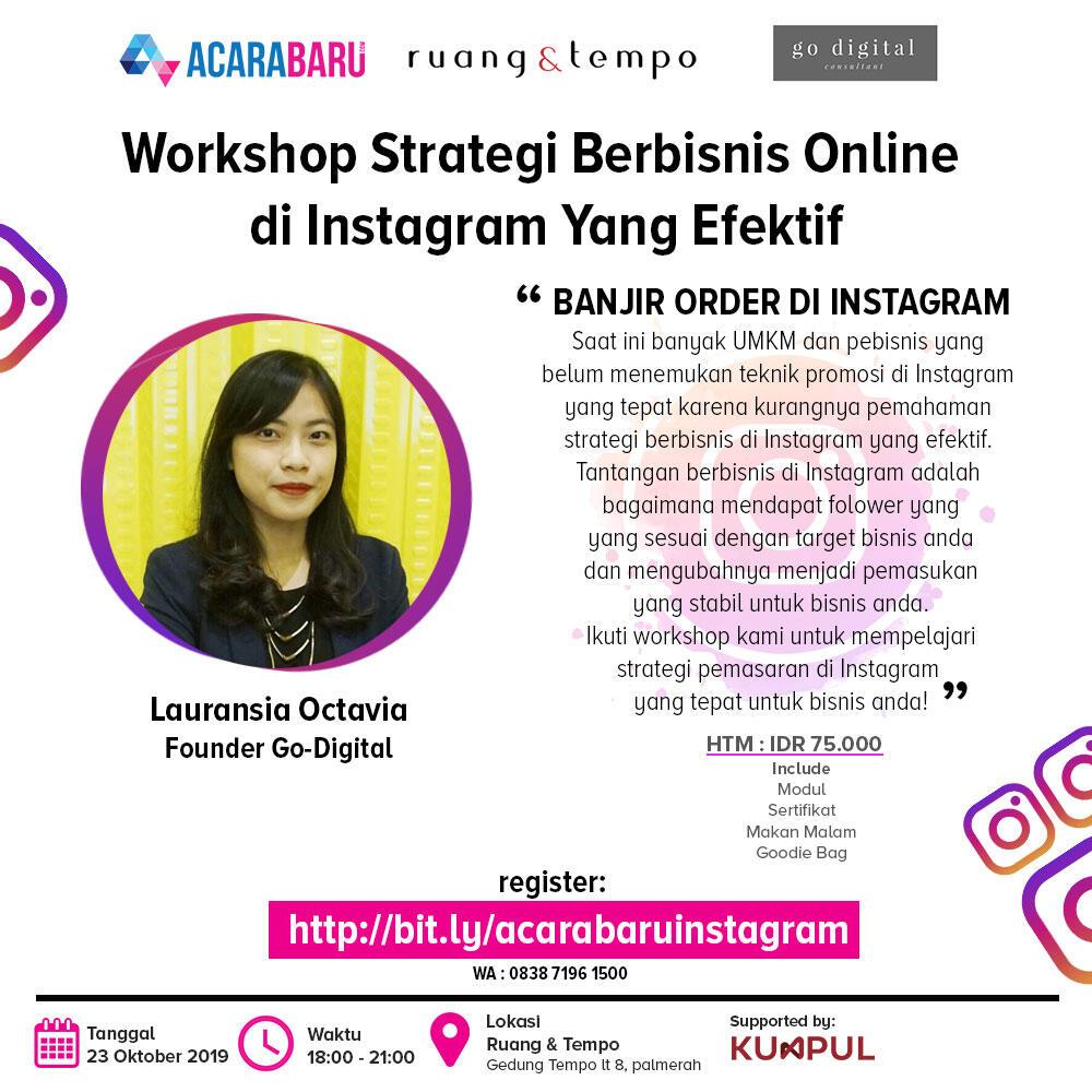 Workshop : Strategi Memaksimalkan Penjualan Melalui Instagram