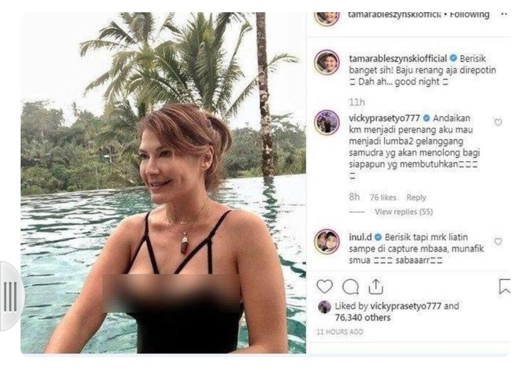 Tamara Bleszynski Berenang Pakai Bikini, Komentar Vicky Prasetyo Disorot!