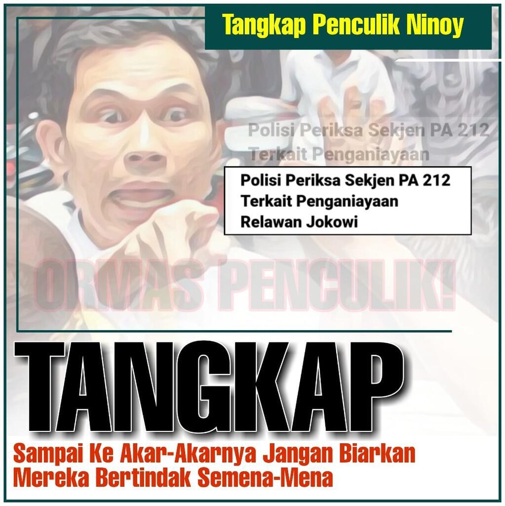 Keji, Sekjen PA 212 Diperiksa terkai Kasus Penculikan Ninoy Karundaeng