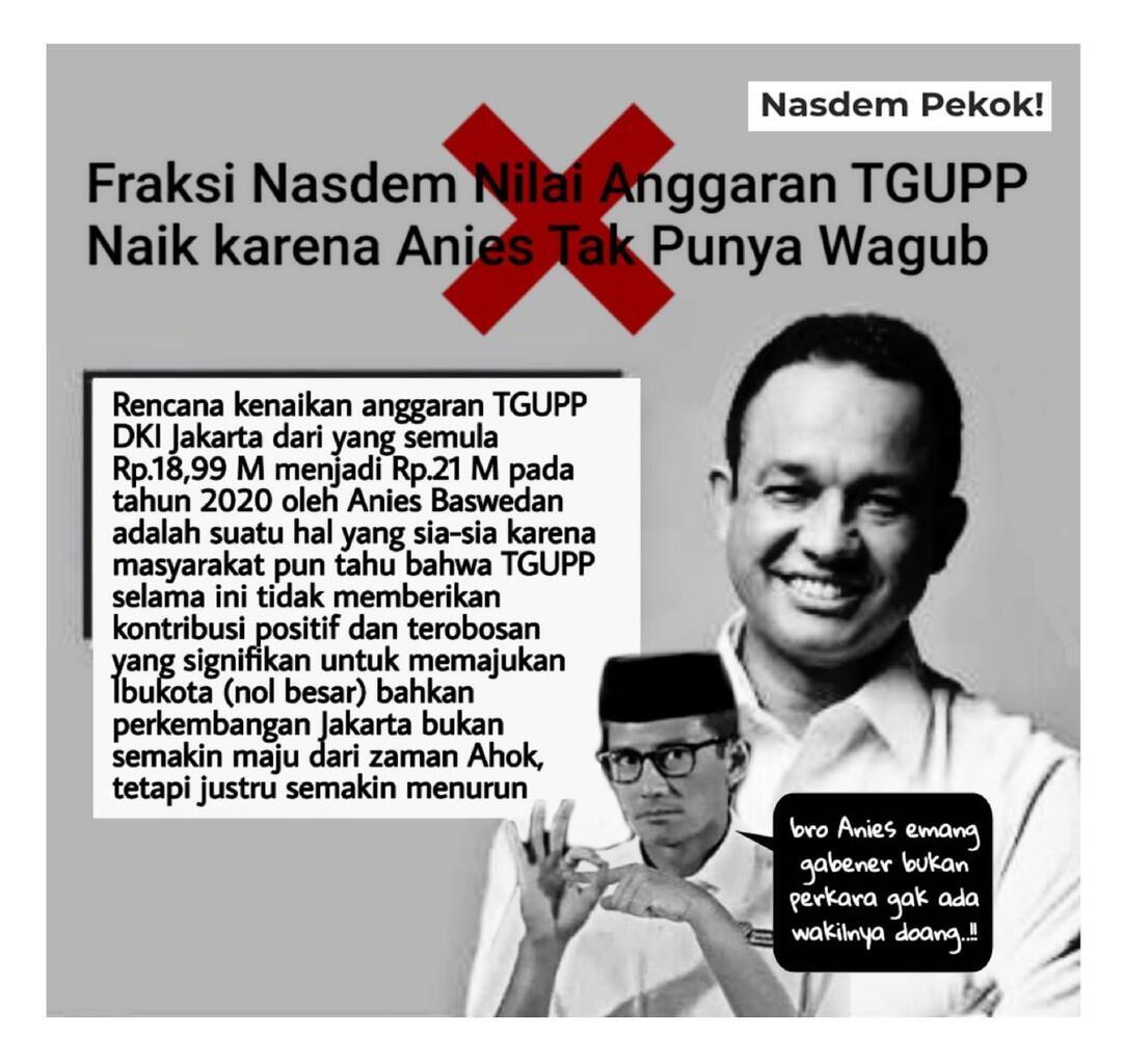 Minim Kerja tapi Gaji Naik, Inilah Pemborosan Anggaran melalui TGUPP DKI Jakarta