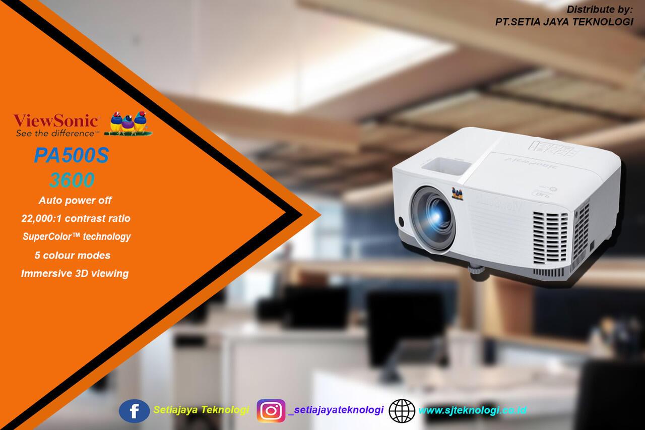 ViewSonic PA500S 3600 projektor fleksbel untuk aktivitas kantor&sekolah