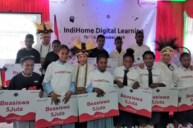 Tingkatkan Pendidikan di Papua, BUMN Luncurkan IndiHome Digital Learning
