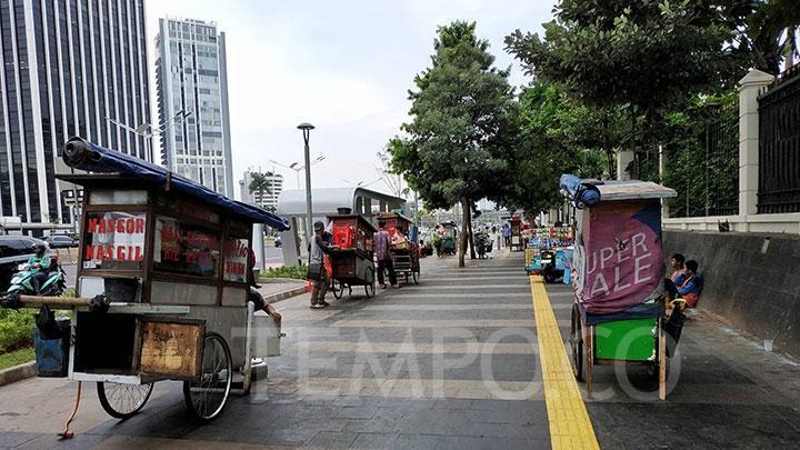 Ikuti Wacana Anies, Tiga Trotoar Jalan Ini Disiapkan Tampung PKL