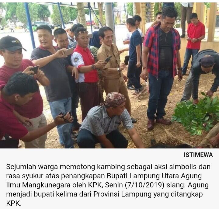 Bupati Lampung Utara Ditangkap KPK, Warga: Hati Kami Lega...