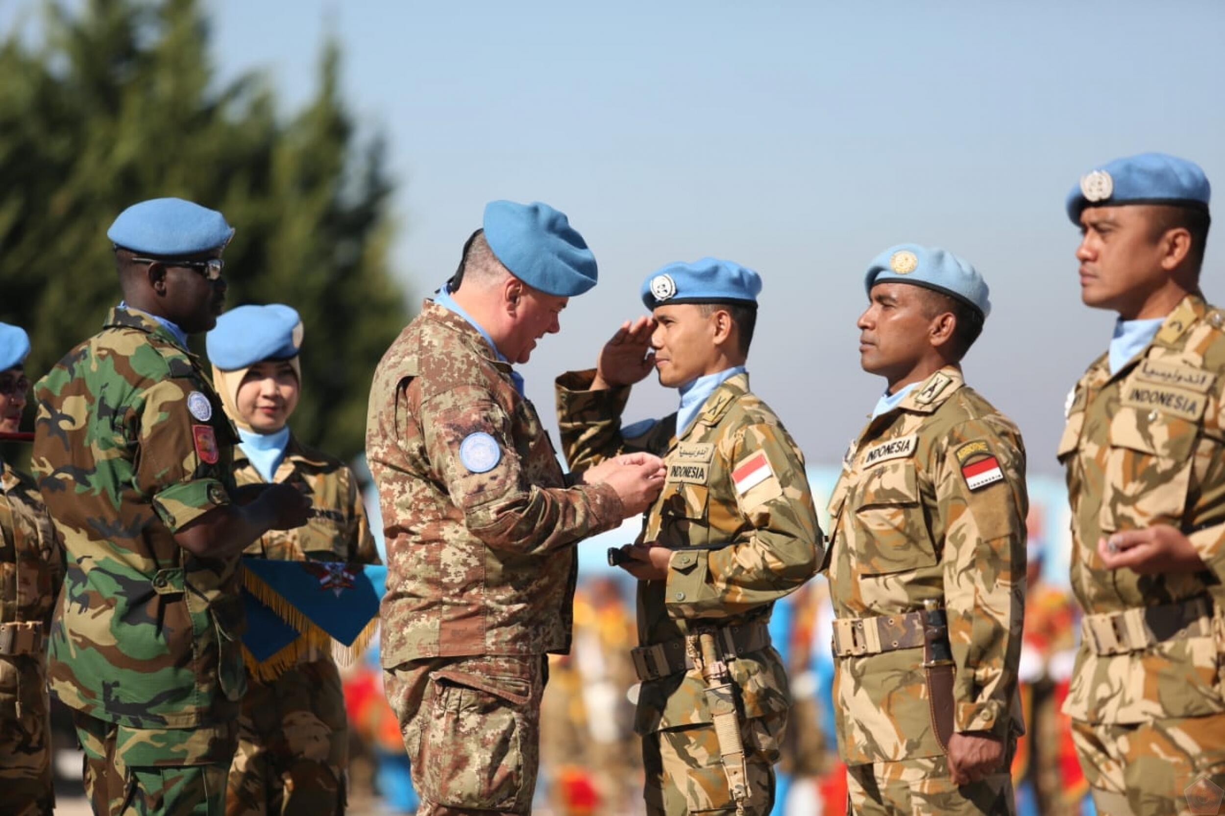 PBB Anugerahi Kontingen Garuda di Lebanon Medali Penghargaan Tertinggi
