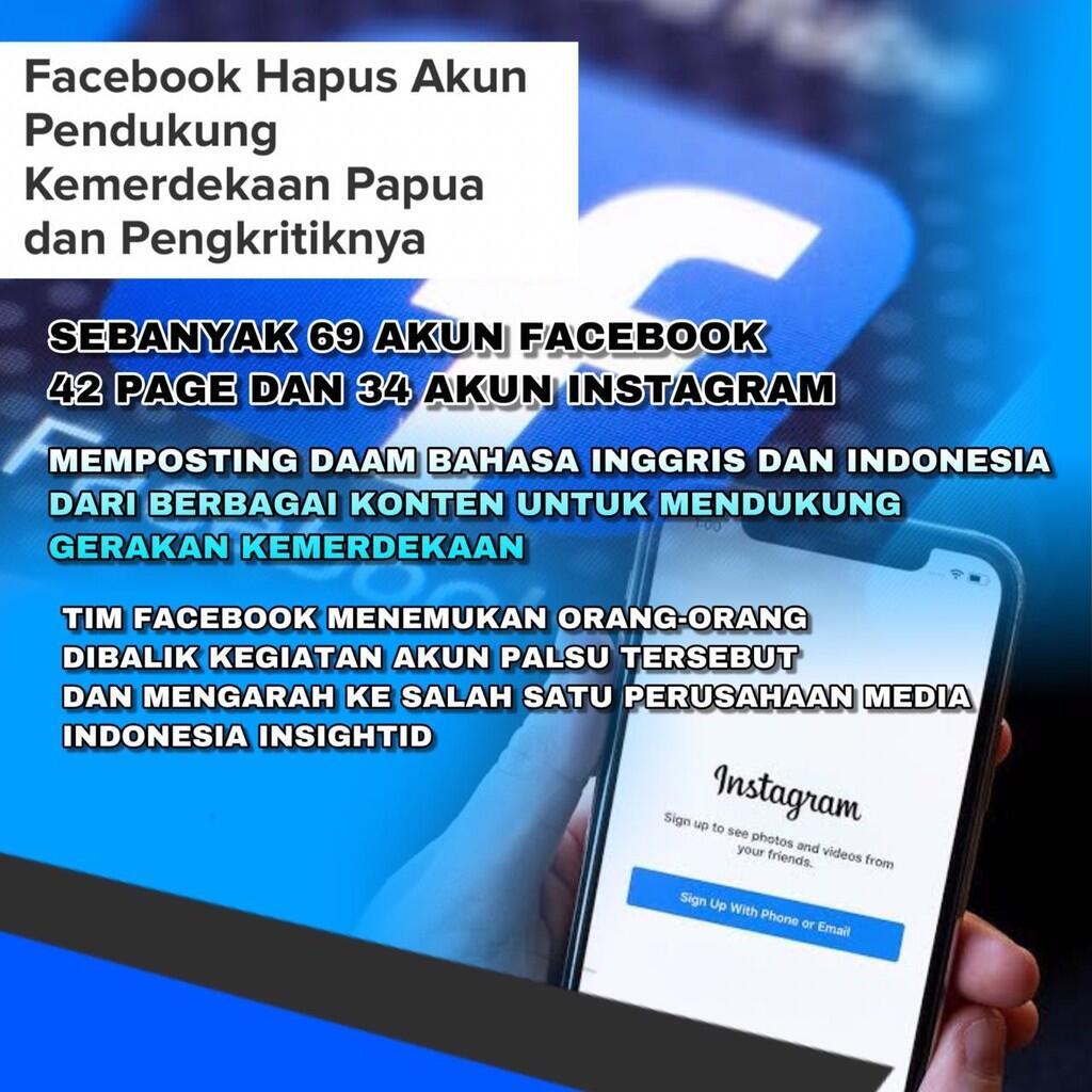 Sebar Hoaks di Media Sosial, Buzzer Pro Kemerdekaan Papua Ditertibkan oleh Facebook