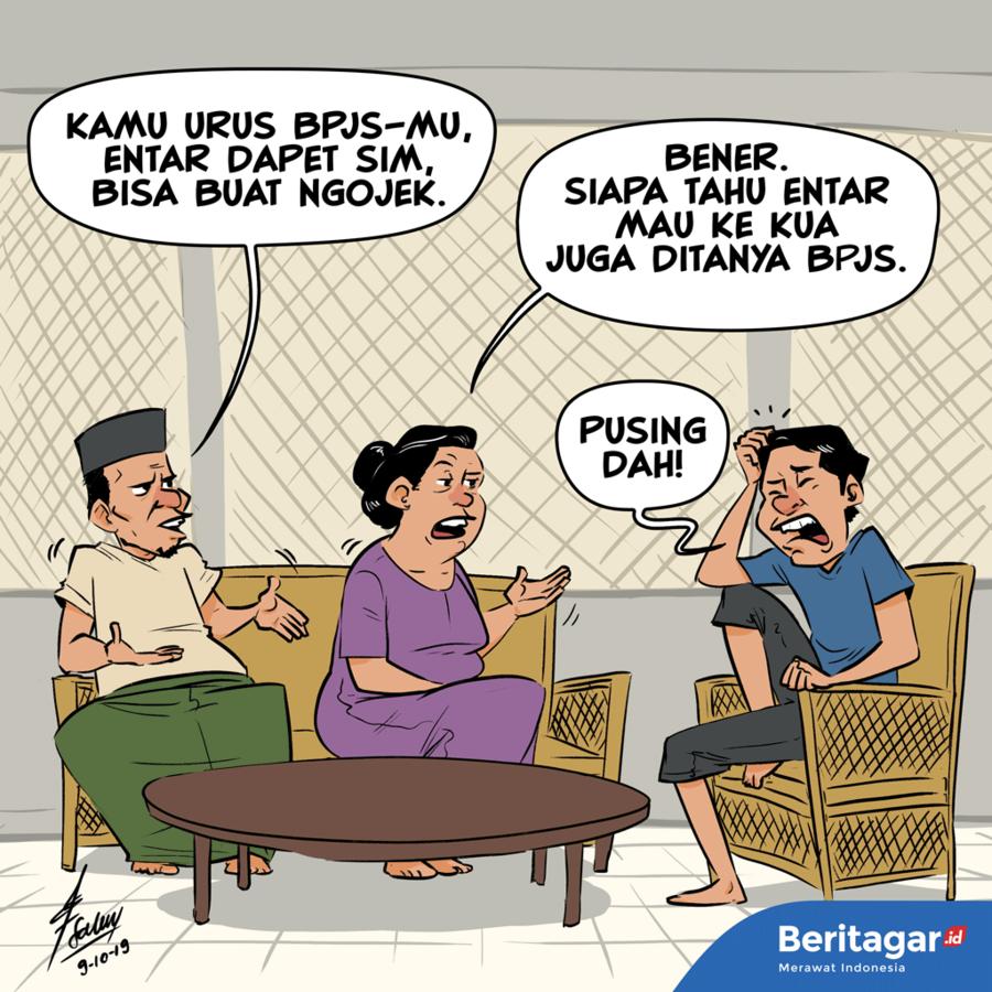 Kartun: Misalnya penunggak iuran BPJS tak dapat surat nikah