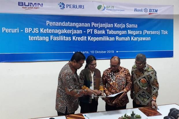 Pegawai Peruri Dapat Fasilitas KPR dari BTN dan BPJSTK