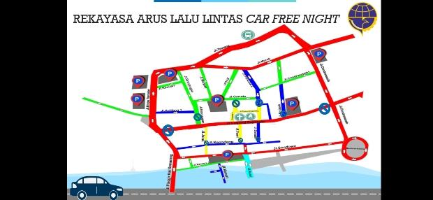 Jumat-Sabtu, Car Free Night Diuji Coba di Kota Lama Semarang