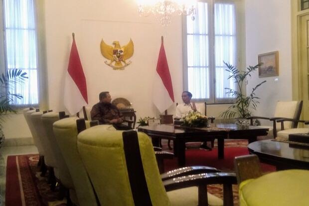 Bertemu SBY, Jokowi Akui Bahas Koalisi dengan Demokrat