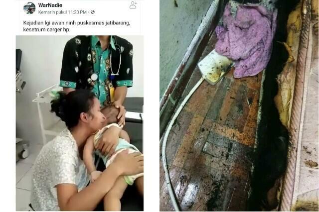 Viral! Sang Ibu Menangis Histeris Gendong Jasad Bayinya Akibat Tersetrum Charger HP