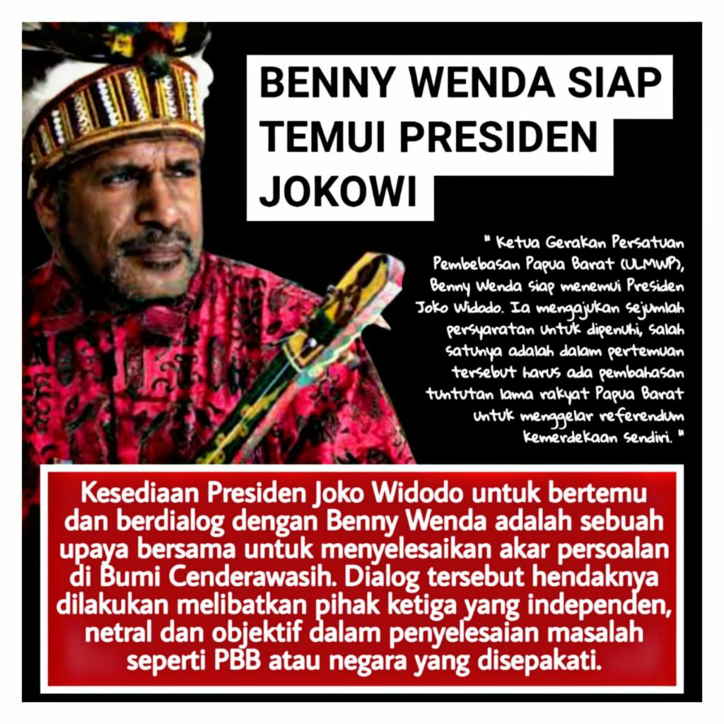 Selesaikan Masalah Papua, Presiden Jokowi Siap Berdialog dengan Benny Wenda