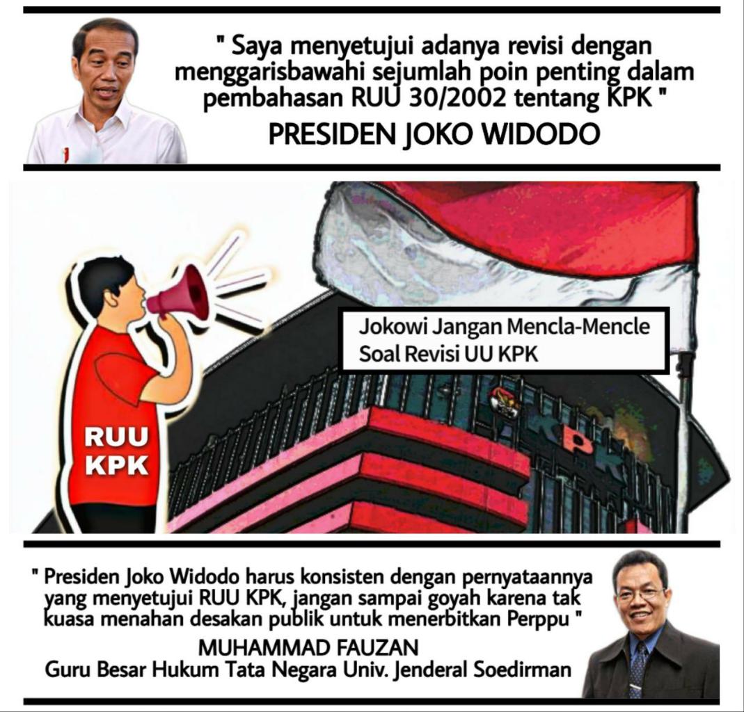 Soal Revisi UU KPK, Presiden Jokowi Harus Konsisten!