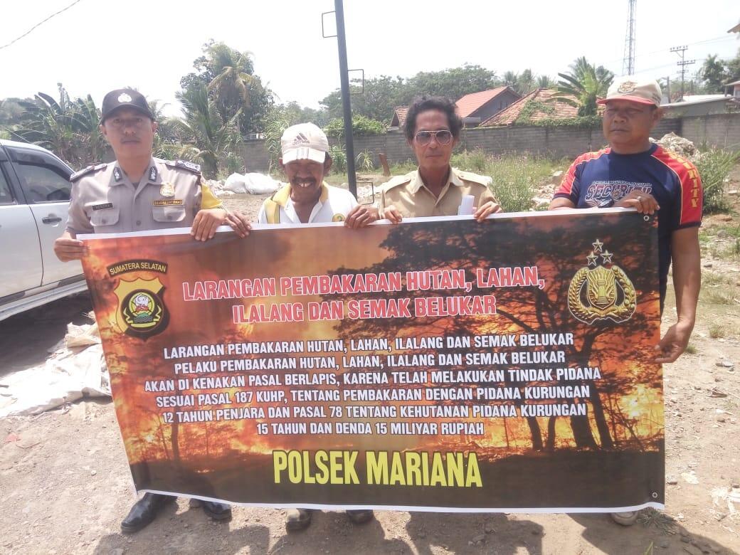 Bhabinkamtibmas Polsek Mariana Gelar DDS di Desa Pematang Palas