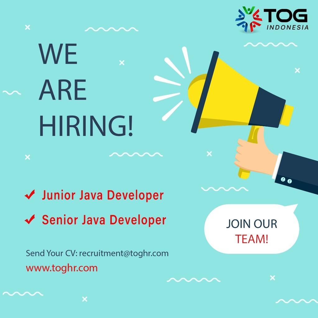 Lowongan Kerja Junior Java Developer & Senior Java Developer