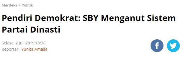 SBY Angkat AHY Jadi Wakil Ketua Umum Demokrat