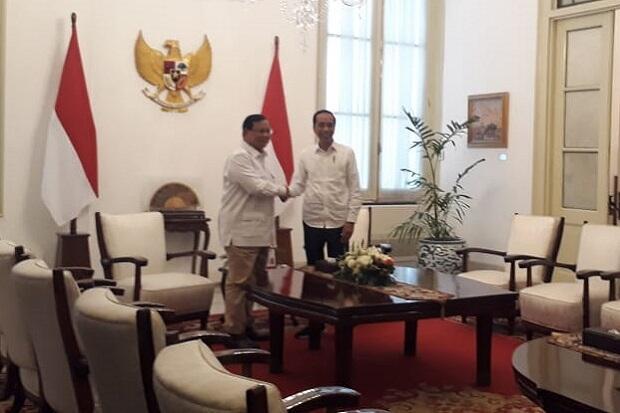 Bahas Kabinet Mendatang, Jokowi-Prabowo Bertemu di Istana Merdeka