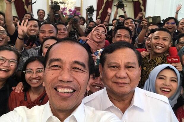 Usai Bertemu Satu Jam, Jokowi-Prabowo Saling Mengumbar Kata Mesra