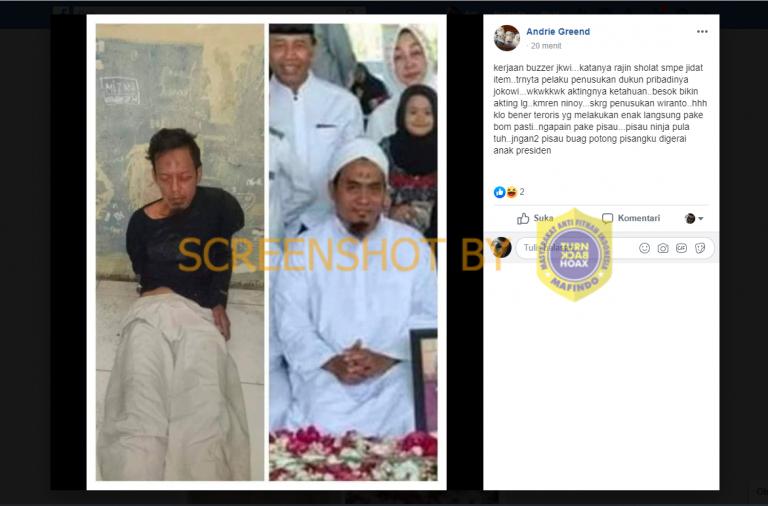 Benarkah Pelaku Penusukan Wiranto adalah Dukun Pribadi Jokowi?