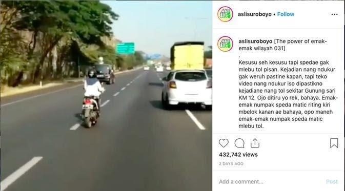 The Power Of Emak-Emak Nih Bosque, Nekat Ngebut Lewat Jalan Tol !!