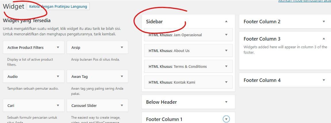 3 pilihan atribut template Full Width, Homepage & Default untuk Halaman Wordpress