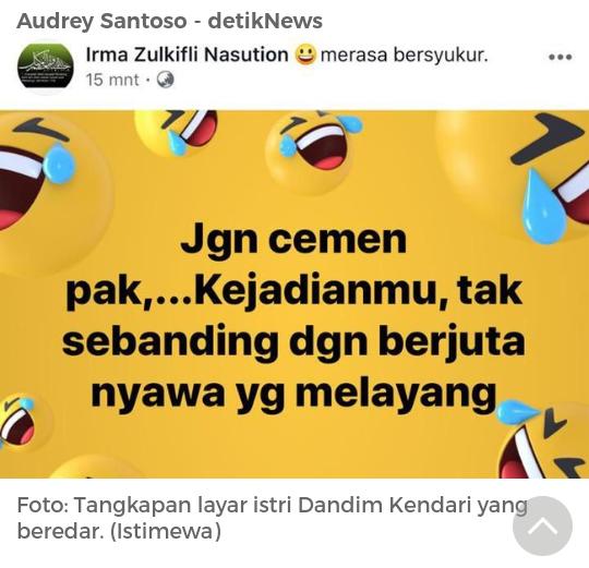 Dandim Kendari Ditahan, Ini Postingan Istrinya Soal Wiranto yang Dipersoalkan