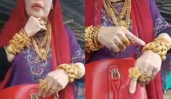 Viral Video Emak-emak Bugis Pamer Emas 3Kg! Benarkah Lebih Kaya Dari Hotman Paris?